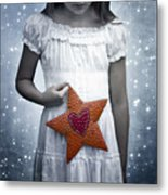Angel With A Star Metal Print