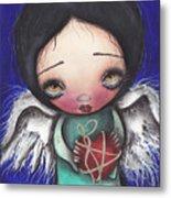 Angel With Heart Metal Print