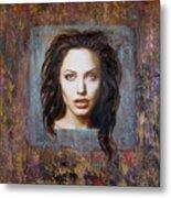Angelina Jolie Metal Print