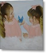 Angels With Wings Metal Print