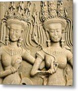 Angkor Wat Relief Metal Print