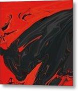 Angry Bull 2 Metal Print
