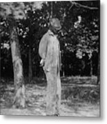Anonymous African American Lynching Metal Print