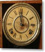 Antique Clock 3 Metal Print
