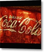 Antique Coca-cola Cooler II Metal Print