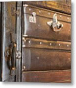 Antique Luggage Metal Print by Shannon Fagan