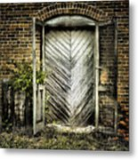 Antique Store Door Metal Print