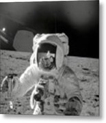 Apollo 12 Moonwalk Metal Print
