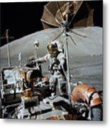 Apollo 17 Astronaut Approaches Metal Print