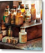 Apothecary - Chemical Ingredients  Metal Print