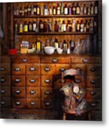 Apothecary - Just The Usual Selection Metal Print