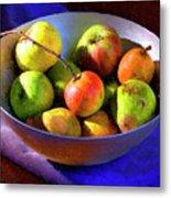 Apples And Pears Metal Print