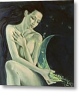 Aquarius From  Zodiac Signs Series Metal Print