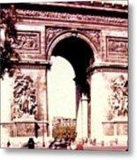 Arc De Triomphe 1955 Metal Print