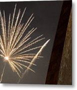 Arch With Fireworks Metal Print