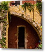 Architectural Details In Chania Metal Print