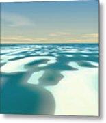 Arctic Spring Thaw Metal Print