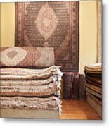 Area Rugs In A Store Metal Print