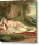 Ariadne Asleep On The Island Of Naxos Metal Print by John Vanderlyn