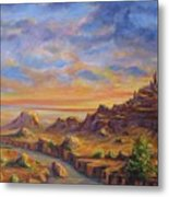 Arroyo Sunset Metal Print