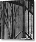 Art And Design Center Security Gate Metal Print