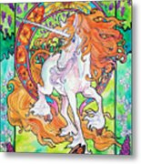 Art Nuevo Unicorn Metal Print