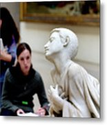 Art Students In The Louvre Metal Print