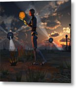 Artists Concept Of A Quest To Find New Metal Print