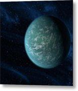 Artists Concept Of Kepler 22b, An Metal Print by Stocktrek Images