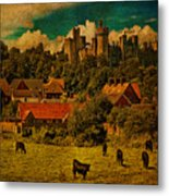 Arundel Castle With Cows Metal Print