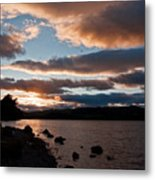 As The Sun Sets Over Loch Rannoch Metal Print