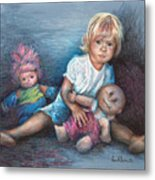 Ashley And Friends Metal Print