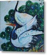 Asian Cranes 1 Metal Print