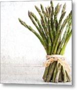 Asparagus Vintage Metal Print