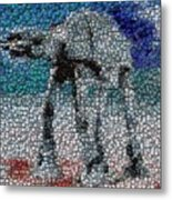 At-at Bottle Cap Mosaic Metal Print by Paul Van Scott
