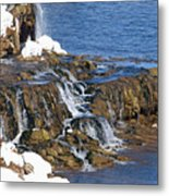 At The Bottom Of The Falls Metal Print