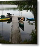 At The Country Dock Metal Print