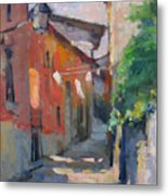 At The End Of The Alley Metal Print