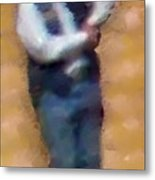 At The Rodeo Metal Print