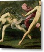 Atalanta And Hippomenes Metal Print