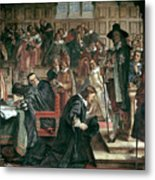 Attempted Arrest Of 5 Members Of The House Of Commons By Charles I Metal Print