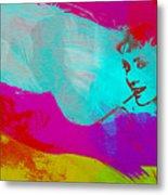 Audrey Hepburn Metal Print by Naxart Studio