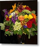 August Bouquet Metal Print