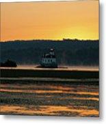 August Dawn At Esopus Light II Metal Print