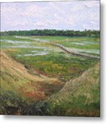 August Marsh Boardwalk Metal Print
