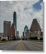 Austin From Congress Street Bridge Metal Print
