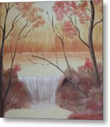Autumn At The Falls Metal Print