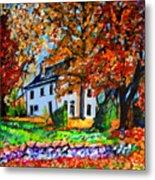 Autumn Farmhouse Metal Print