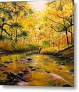 Autumn Fishing Metal Print