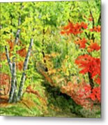Autumn Fun Metal Print